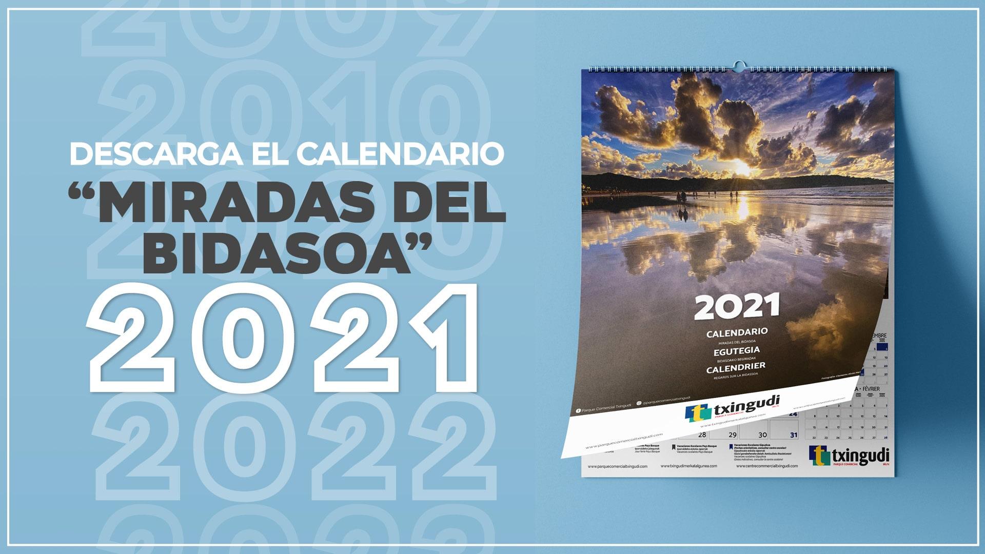 ¡Descárgate el calendario Miradas del Bidasoa 2021!
