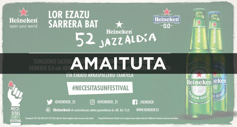 52 Heineken Jazzaldia lor ezazu sarrera bat