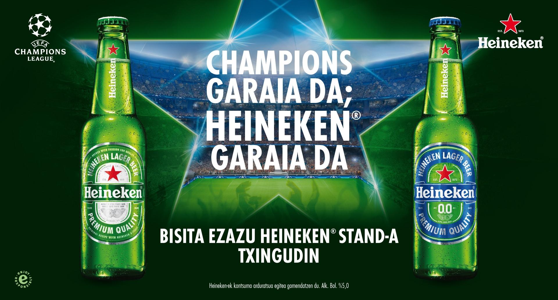 Champions garaia da; Heineken garaia da