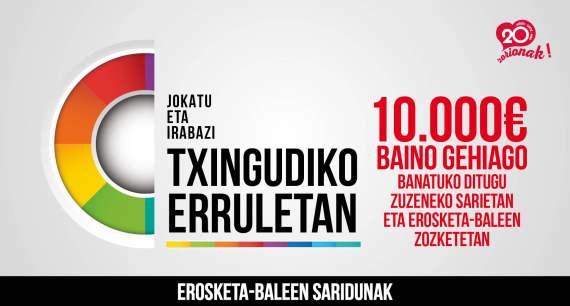 2018ko Txingudiko Erruletan erosketa-baleen saridunak