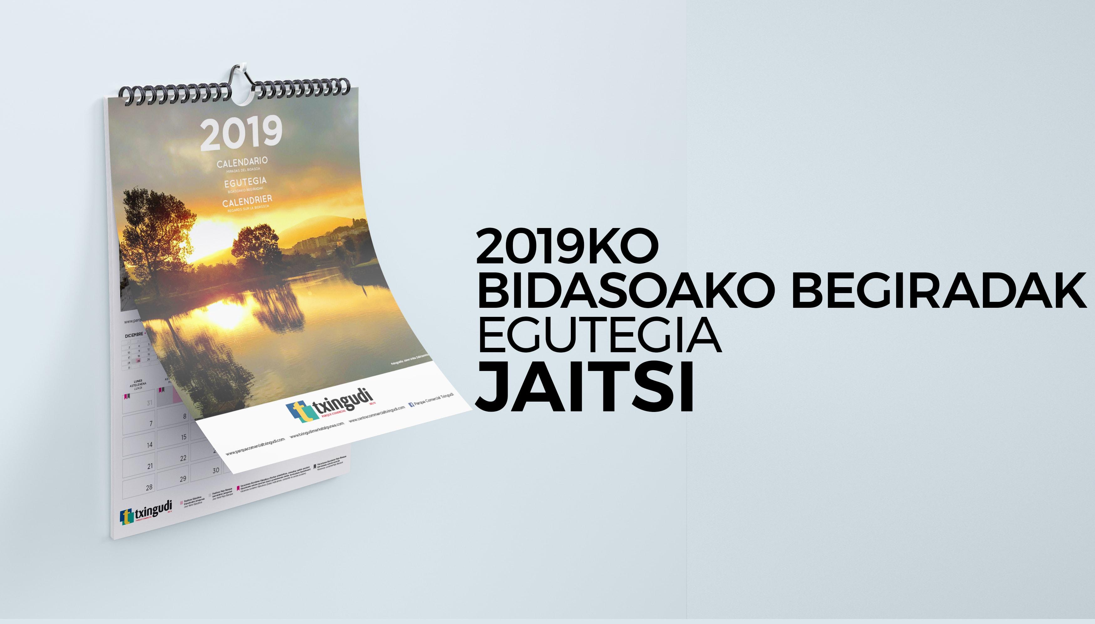 2019ko Bidasoako Begiradak egutegia jaitsi