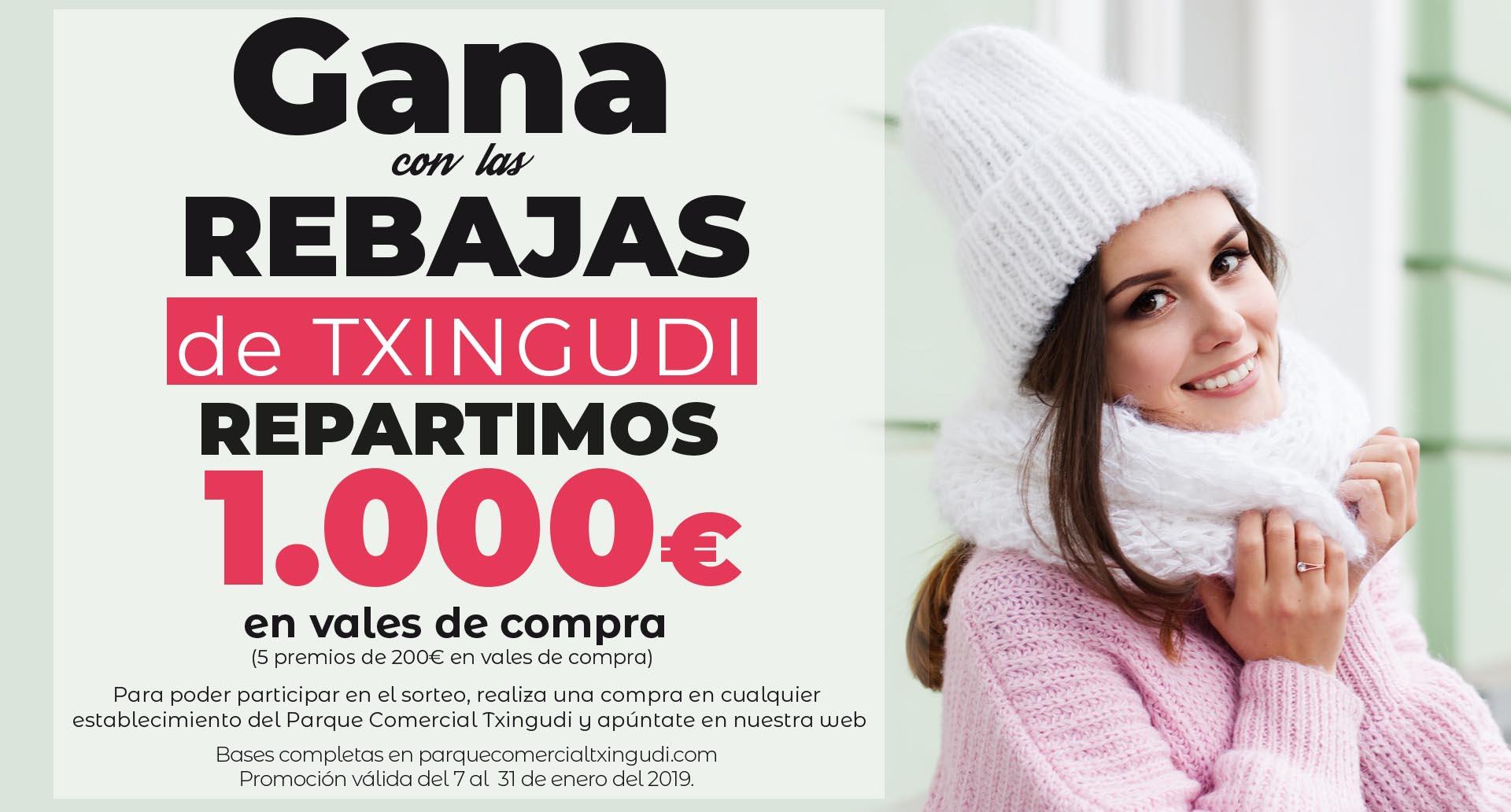 Gana con las rebajas de Txingudi, repartimos 1.000€ en vales de compra