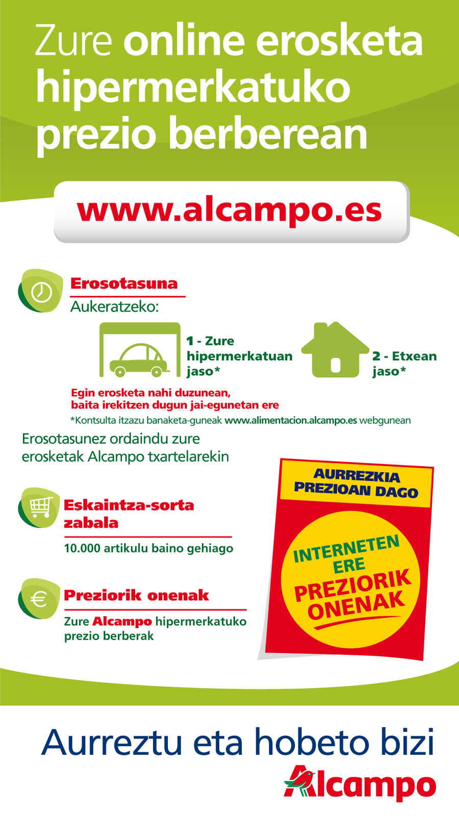 Compra online Alcampo eus